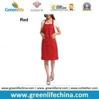China Hot sale popular red color custom advertising apron for sales promotion cheap China price wholesale
