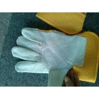 "China 10.5"" Safety Working Gloves With Pasted Cuff For Warehouse Work / Construction full palm protective hand glove wholesale"