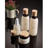 China Round Shape Glass Cosmetic Lotion Bottles 100ml Capacity Good Sealing Performance wholesale