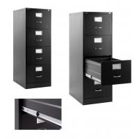 China Black Metal Lateral File Cabinet4 Drawer For Office , Home, Warehouse on sale