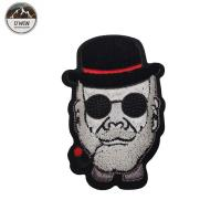 China Cool Man 3D Custom Made Patches , Toothbrush Material Clothing Badges Patches wholesale