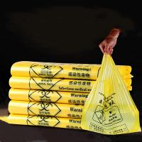 China Hospital Disposable Biohazard Waste Bags Ldpe / Hdpe Yellow Medical Waste Bags on sale