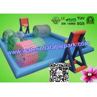 Giant Kids Inflatable Water Park With Swimming Pool , Inflatable Water Play