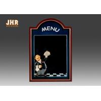 China Black Wooden Wall Mounted Chalkboards Framed Menu Board For Restaurant wholesale