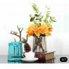 China Blue Decorative Solid Glass Vases / Handmade Flower Vase For House / Hotel wholesale