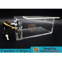 China 6 Decks Casino Card Box / Poker Card Box With Metal Handle Easy To Carry wholesale