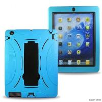 Dirt - resistant Black , Blue portable ipad silicone case with kickstand style for boy