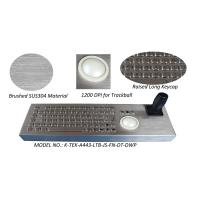 China Metal Joystick Keyboard Stainless Steel Desktop with trackball mouse wholesale