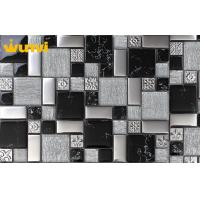 China OEM Graceful Black And White Mosaic Bathroom Floor Tiles 8mm Thickness wholesale