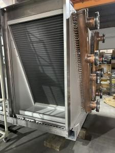 China 3500m3/H Corrugated V Type Dry Air Cooler Chiller PLC Controlled wholesale