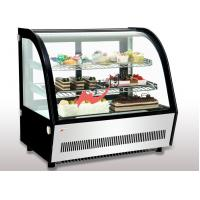 China Small Curved Glass Refrigerated Bakery Display Case Countertop Mirrors / Steel Base wholesale