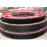 Forging steel heavy duty big gear wheel, spur gear power dryer transmission parts