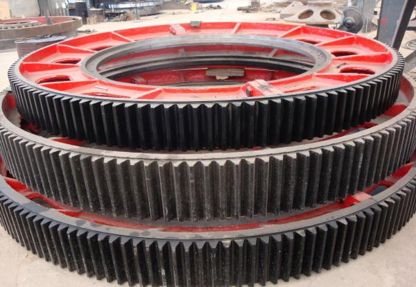 Quality Forging steel heavy duty big gear wheel, spur gear power dryer transmission parts for sale
