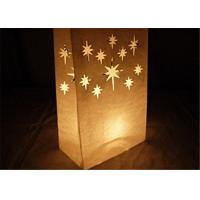 "China Paper Packaging Bags / Luminary Lantern Bags Path Lighting 6""Width x 10""Height x 3.5""Depth wholesale"