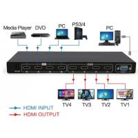 China 4 in 4 out Matrix  HDMI2.0  switch and splitter support 4K wholesale