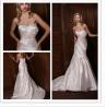 China Empire Waist Pleated Simple Elegant Wedding Dresses of Wipes Bosom wholesale