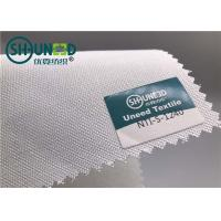 Buy cheap Plain Weave Polyester Woven Interlining Fabric Single Side Brushed For Men from wholesalers