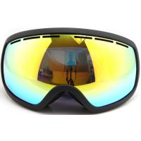 China Three Layer Foam Mirrored Ski Goggles Spherical Lens type / Ladies Snowboard Goggles wholesale