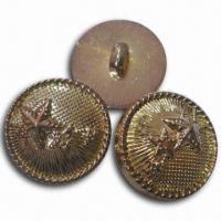 China Plastic ABS Button with Oxidized Red Brass Finish, Available in Various Styles and Colors wholesale