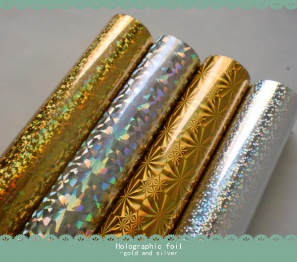 HOLOGRAPHIC FOIL Hot stamping foil foiling and embossing size 64cm*120m