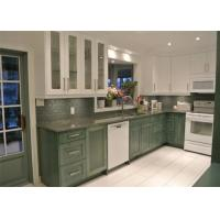 China Paint Finish Solid Wood Kitchen Cabinets Blum / Dtc Hardware With Granite Countertop wholesale
