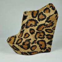 China leopard ankle boots for lady wholesale