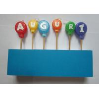 Flameless Skinny Letter Birthday Candles Balloon Shape For Cake Decorative