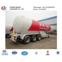 China CLW factory suppiy biggest 25.2t 60CBM 60000l 3 axles 12 wheels LPG gas trailer  for sale, ASME standard lpg gas trailer wholesale