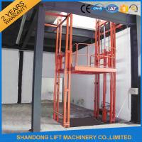 China 2.5 Tons Guide Rail Hydraulic Elevator Lift for Warehouse Cargo Loading CE on sale