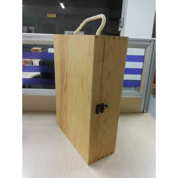 Quality Custom Plain Wooden Wine Gift Box Large With Lid 350 X 250 X 100 mm for sale