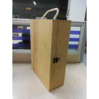 China Custom Plain Wooden Wine Gift Box Large With Lid 350 X 250 X 100 mm wholesale