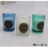 China Smokeless Color Spraying Glass Cup Paraffin Wax Candle No Harmful wholesale