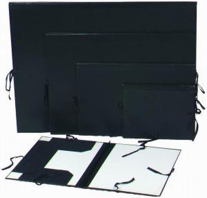 Buy cheap Черная папка организатора бумаги папки портфолио картины художника с зажимом картины from wholesalers