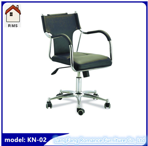 Quality cheap ergonomic office chair black office chair with wheels KN-02 for sale
