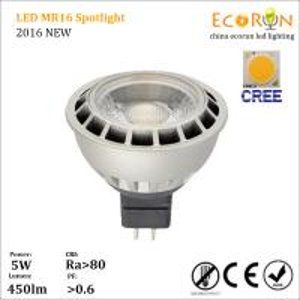 China cri>80 12v 400lm ceiling spot lighting mr16 cob spot ligt 5w 7w gu5.3 aluminum wholesale