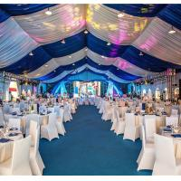 China Blue Outdoor Wedding Tent , Unique Wedding Marquees For Party Activities wholesale