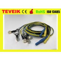 China Multi - Color Electrode Cable Ear Clip Electrode With Silver Plated Copper wholesale