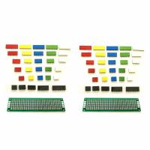 China 62pcs Colored 2.54mm Single Row Straight Pin Header Female Socket PCB Board Connectors wholesale
