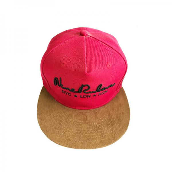 Quality Fashion Stereo Embroideed  5 Panel Camper Hat Retro Pink Waterproof for sale