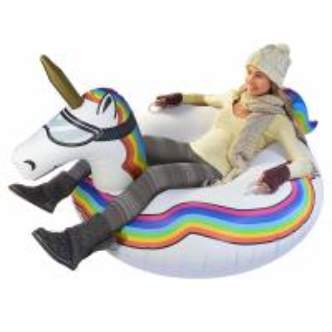 China 0.6mm PVC Kids Adult Heavy Duty Inflatable Unicorn / Winter Sledding Snow Tube on sale