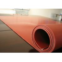 China Dark Red Heat Resistant Silicone Rubber Sheet Rolls Reinforced To Insert 1PLY Fabric on sale