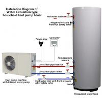 China Scroll Compressor Type Small Heat Pump Water Heater Residentail House Application on sale