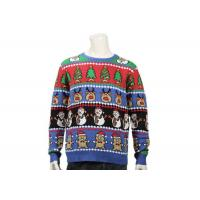 China Long Sleeve Ugly Christmas Sweater With Christmas Trees Feature Patterns For Men wholesale