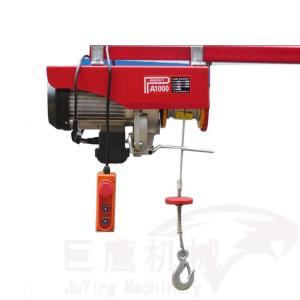 China Single Hook Miniature Electric Hoist , PA100 Electric Wire Rope Hoist 1 Ton on sale