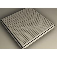 China Beveled / Square Edge Clip In Ceiling Tiles 600x600 , perforated aluminium panels wholesale