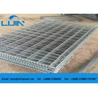 China Stackable Detachable Wire Mesh Storage Cages , 50 * 50 Grinding Metal Storage Cage wholesale