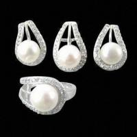 China Silver 925 Wedding Jewelry Set, Latest Design, OEM Orders Welcomed wholesale