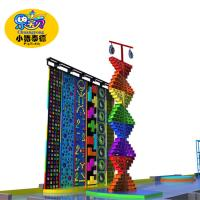 China Outdoor Park Kids Rock Climbing Wall Plastic Fiberglas Wood Material Anti - UV wholesale