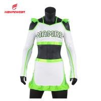 China Special Cut Cheer Dance Clothes Green High School Cheer Uniforms Dry Fit on sale