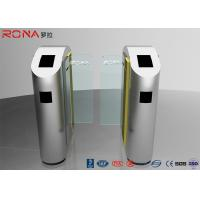 China Security Turnstile Barrier Gate Automatic Sliding Type Tempered Glass Customized Color wholesale